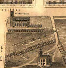 Detail from map of Edinburgh New Town  - Kirkwood, 1819  -  West End of Princes Street