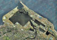 Aerial view of Leith Docks  -  2001