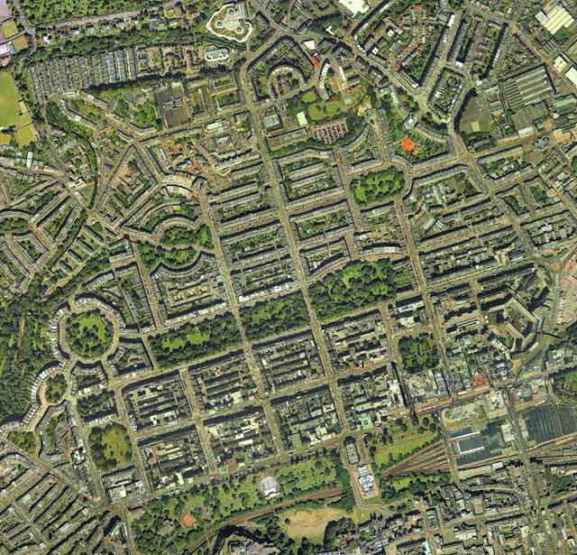 Aerial view of Edinburgh New Town, 2001