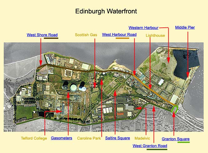 Edinburgh Waterfront  -  Aerial Photograph  -  2000