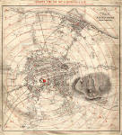 Edinburgh Time-Gun Map  -  1861  -  The whole map
