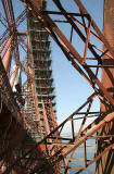 The Forth Rail Bridge  -  Scaffolding erected for painting