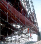 Scaffolders at Work on the Forth Rail Bridge