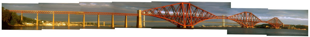 Panoramic Photograph of the Forth Bridges