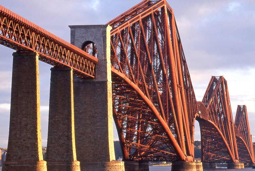 The Forth Rail Bridge  -  Soon after Sunrise