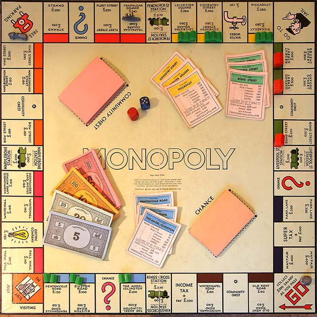 An image of a Monopoly board