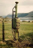 Old Petrol Pump near Loch Alsh in the Scottish Highlands