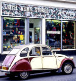 2CV and shop at 10 Brunswick Place, Leith Walk, Edinburgh