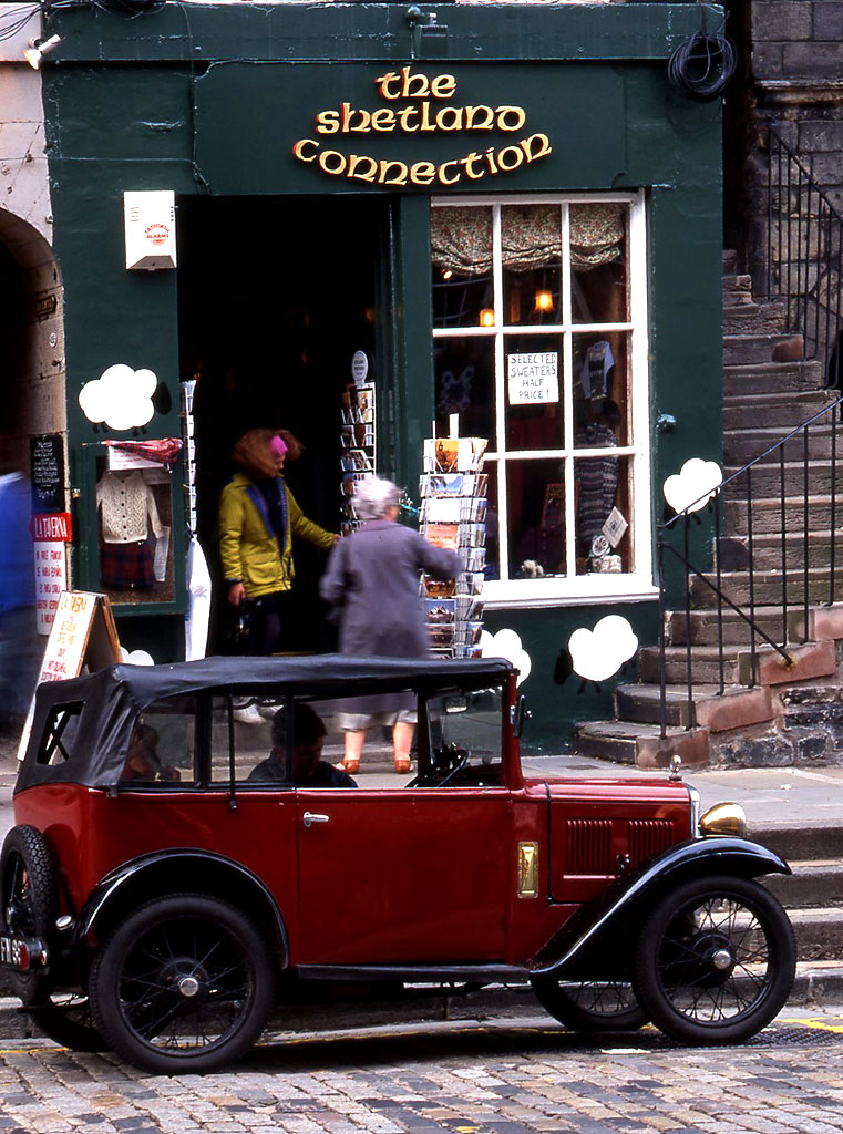 Shop and Car at 491 Lawnmarket, Old Town, Edinburgh