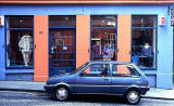 Shop and Car at 62 Candlemaker Row, Old Town, Edinburgh