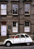 2CV at Drummond Place, New Town, Edinburgh