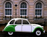 2CV at George Street, New Town, Edinburgh