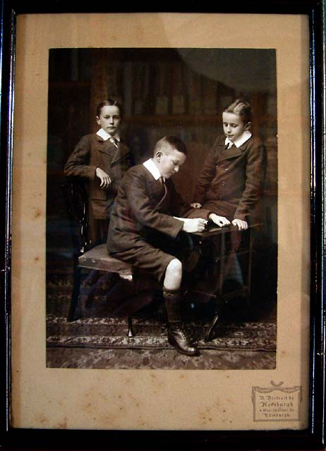 John A Horsburgh  -  Photograph of three boys  -  c.1910