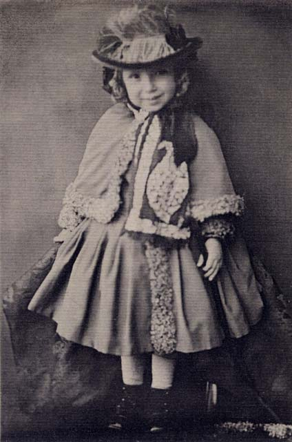 Photograph by Moffat  -  Robert Louis Stevenson  -  Aged 3