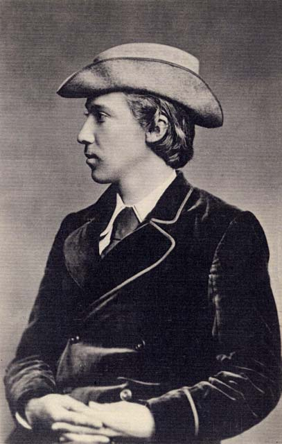 Photograph by Moffat  -  Robert Louis Stevenson, aged 15
