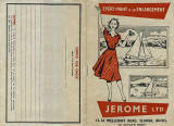 Jerome  -  Developing and Printing envelope  -  outside  -  1950s