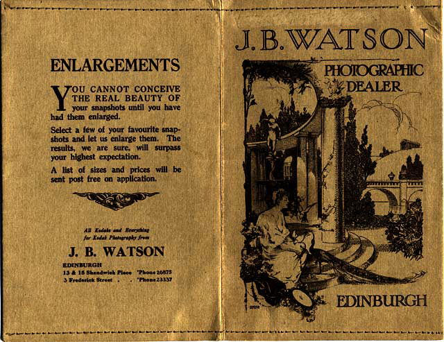 J B Watson  -   Developing and Printing wallet, 1929 to 1931  -  Outside