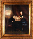 Painting by John Horsburgh (1835-1924), possibly of two of his cchildren, Victor and Agnes Mary