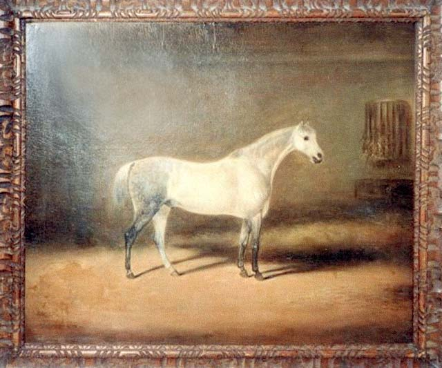A painting of a hores by the early Edinburgh photographer and artist, James Howie.