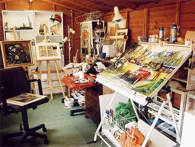 A View Of Frank Forsgard Manclarks Studio Edinburgh