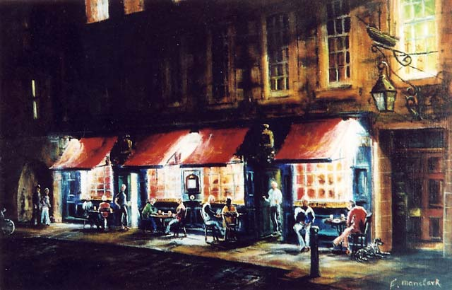 Painting By Frank Forsgard Manclark The Leith Artist