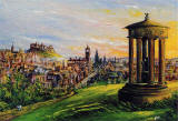 Painting by Frank Forsgard Manclark, 'The Leith Artist'   -   Romantic Edinburgh
