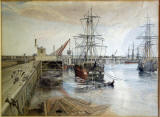 Painting by Weir  -  Granton West Pier, 1887