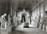 Photograph by Alinari of the Gallery of Statues in the Museo Pio-Clementino, Rome
