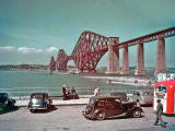 The Forth Bridge photographed from South Queensferry.  Photo taken by Kenneth F Balmain.  Date of the photo not known.