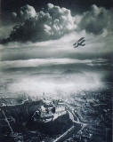 Silver gelatine print by Alfred G Buckham  (Aerial View of Edinburgh, published in the booklet 'Photogrpahy in Scotland' published by the Scottish National Photography Centre, 2004