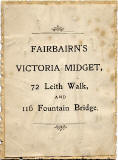 The back of one of Fairbairn's Victoria Midget photographs  - 'Good Luck'  message on the front