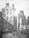 Etching of Chancellor Court, Edinburgh,  by Robert Smith Forrest