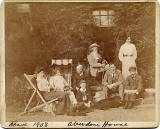 A Group at Aberdour House, Aberdour, Fife, Scotland