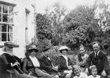 John Horsburgh with William Edie Anderson and others at Aberdour House, Fife, Scotland