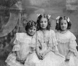 Olive, Violet and Lily Low, daughters of the Edinburgh photographer, Claude Low