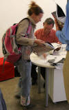 Edinburgh  -  16 August 2005  -  Martin Parr signs books at Stills Gallery