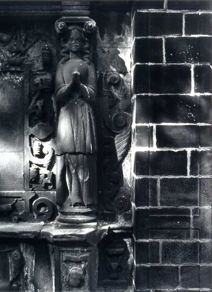 Photograph by Joseph Rock  -  Greyfriars' Graveyard  -  The Young Monument [detail]