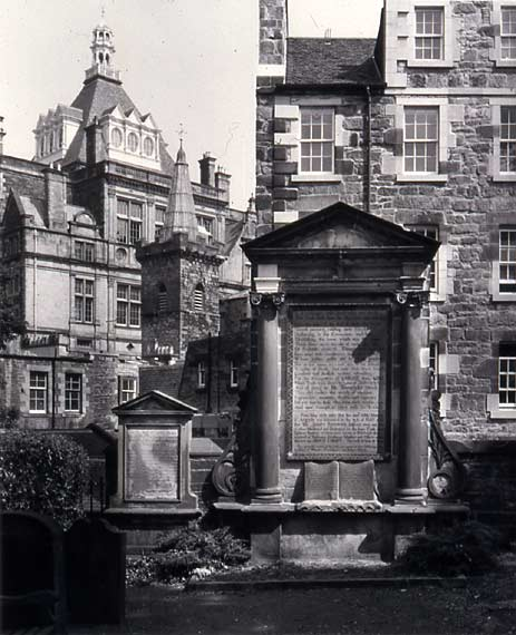 Photograph by Joseph Rock  -  Greyfriars Graveyard  - The Martyrs Monument