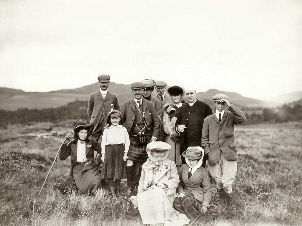 Photograph from the family of Horatio Ross  -  Group Portrait in the Scottish Highlands