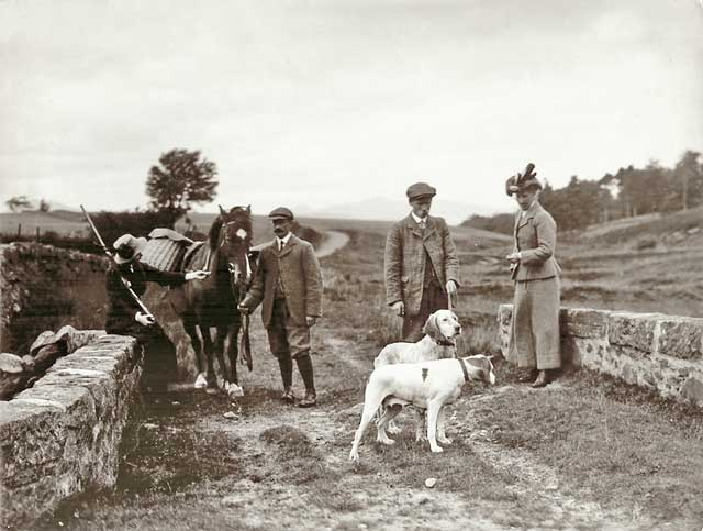 Photograph from the family of Horatio Ross  -  Hunting and Shooting in the Scottish Highlands  -  Bridge