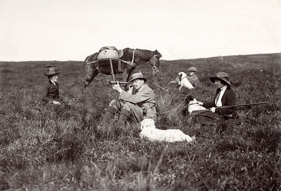 Photograph from the family of Horatio Ross  -  Hunting and Shooting in the Scottish Highlands  -  Spying the Ground.  This photo may have been taken by Mrs Horatio Ross