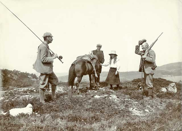 Photograph from the family of Horatio Ross  - Fishing and Hunting in the Scottish Highlands