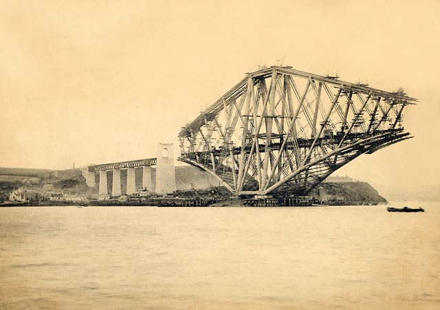 The Forth Rail Bridge under construction - 1880s