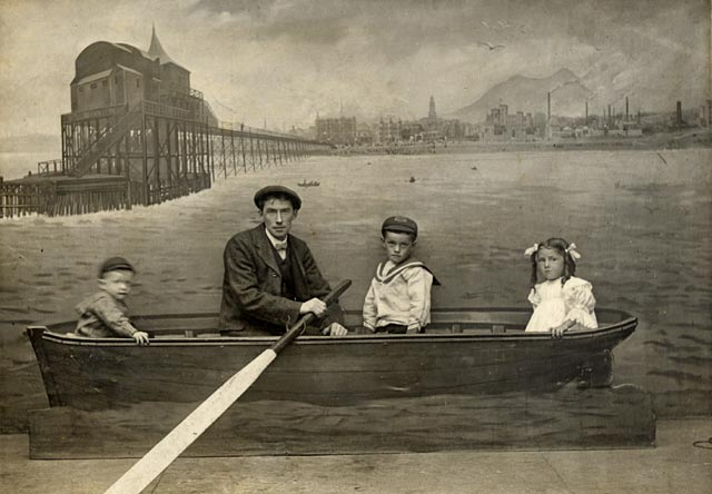 Photograph from Robert Turnbull's Studio, Portobello  -  Four in a Boat