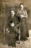Photograph taken in an Edinburgh Studio (which Studio?)  -  Bob Henderson's Great Grandparents and Uncle