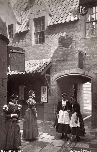 'Old Edinburgh' exhibit at the International Exhibition, Edinburgh, 1886   -  by Marshall Wane  -  Page 9  -  Brymson's House