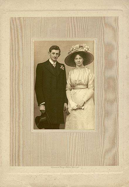 Photograph by Drummond Young and Watson  -  The Wedding of Marjory Jane Duncan Edward, daughter of the Edinburgh photographer, John Donaldson Edward