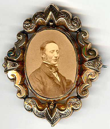 Photograph by John Moffat  -  in a brooch