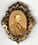 Photograph by Moffat  -  in a brooch
