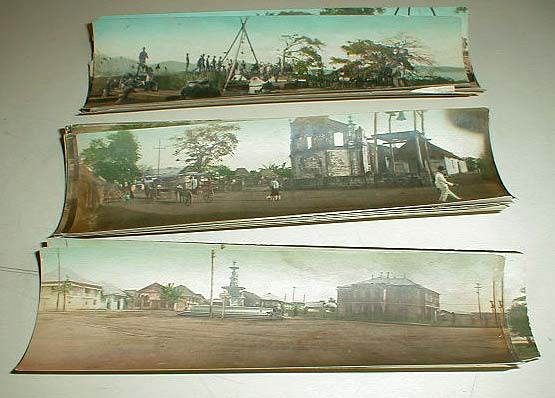 Examples of coloured photographs from the early 1900s.  What process was used to produce these?